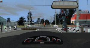 Car driver's work in 3D environment